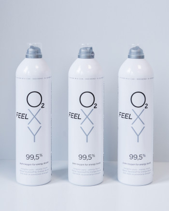 Set 3 velikih pločevink 12L čistega kisika FeelOXY