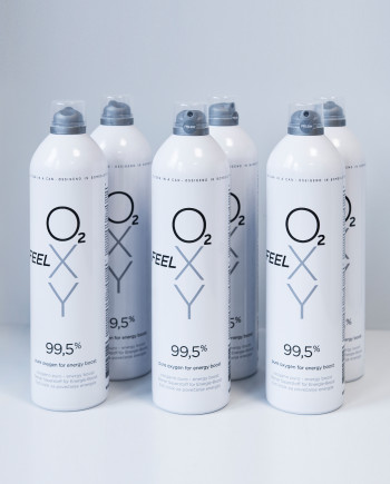 Set 6 velikih pločevink 12L čistega kisika FeelOXY