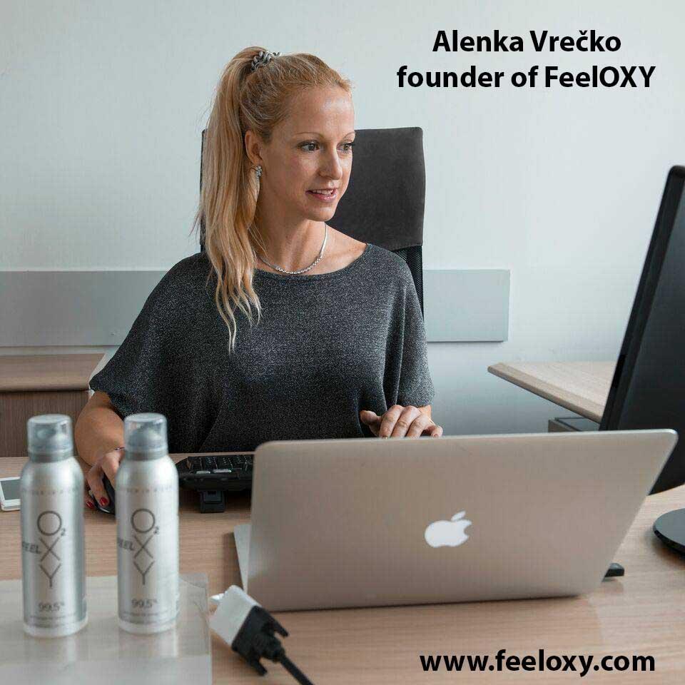 Alenka Vrečko - direktorica podjetja FeelOXY