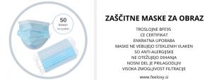 Troslojne zaščitne maske text web